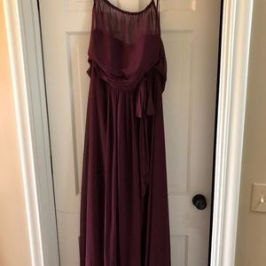 After Six Bordeaux Bridesmaid Dress
